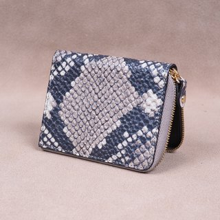 Zipper Wallet / Coin Wallet / Italy Cow Leather(Snake)