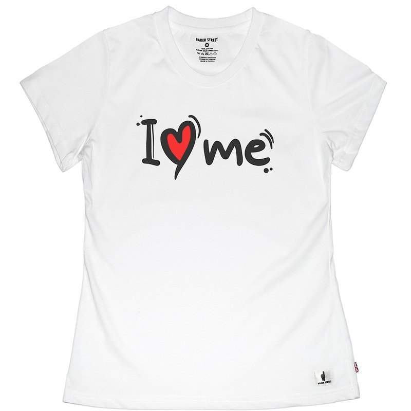 British Fashion Brand -Baker Street- I Love Me Printed T-shirt