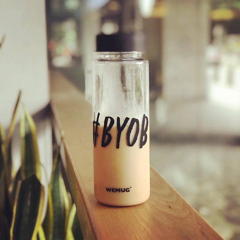 日本暢銷商品 -Hashtag版戶外水瓶 水瓶 野餐壺 透明 #BYOB款式