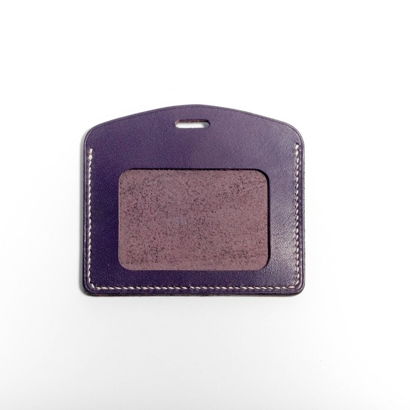 Egawa [Hands] documents folder, travel card sets (purple horizontal) pure hand-stitched leather