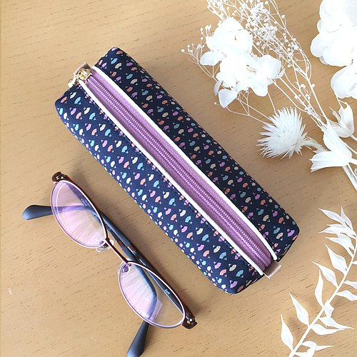 Glasses Case with Japanese Traditional pattern, Kimono