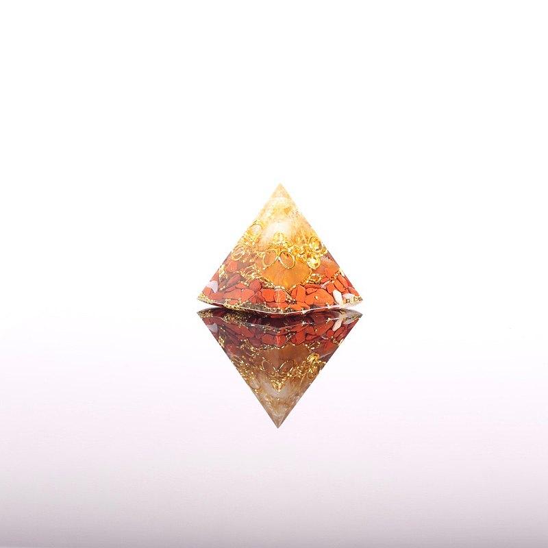 金玉滿堂-奧剛小金字塔Orgonite水晶礦石財富、招財、樂觀、豐盛