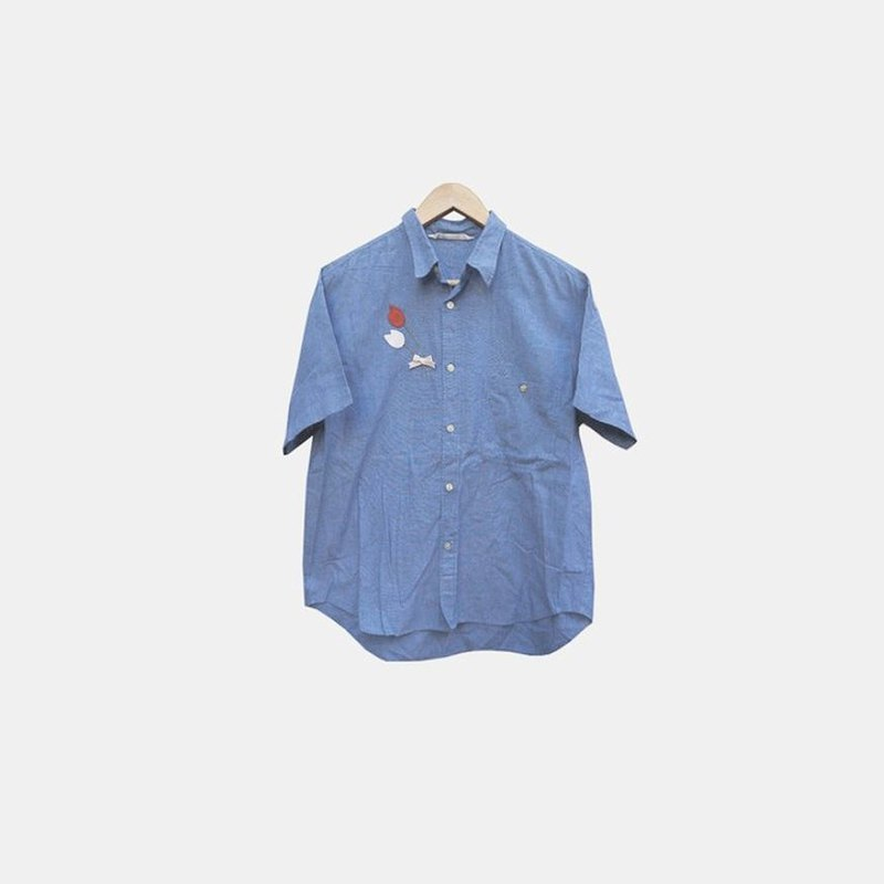 Dislocation vintage / light blue denim shirt no.072 vintage
