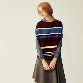 AEVEA Geometric Stripe Sweater