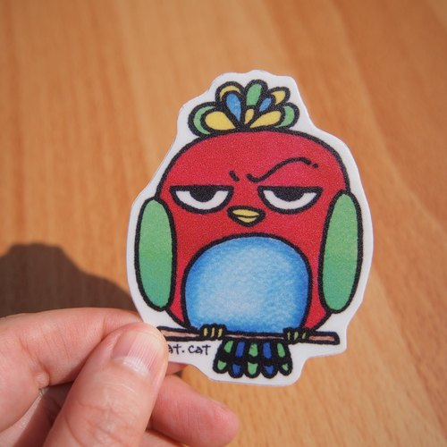 Waterproof stickers - faceless bird