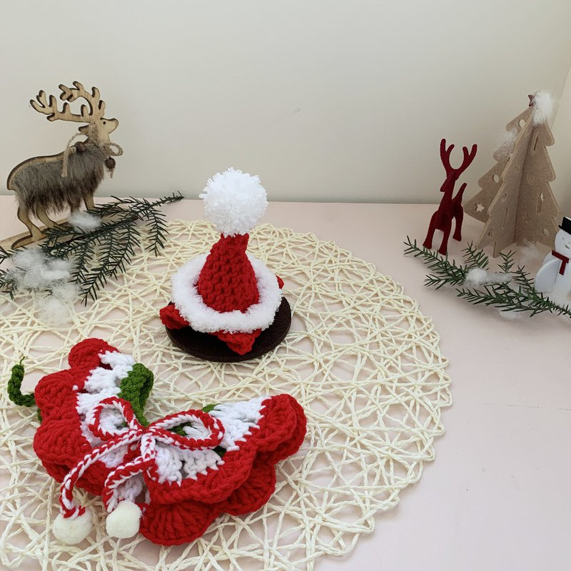 Christmas Christmas Limited - Little Lady Christmas Elf - Pet Cape Hat Scarf