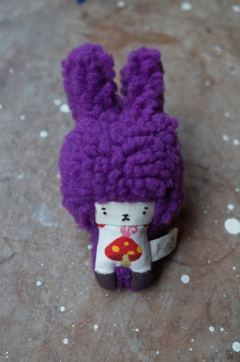 Duo rabbit - grape hair - red small mushroom - 2019068