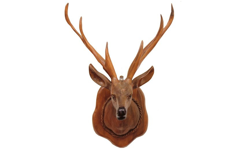 JidiLiving | Woodcarving Deer Head Charm