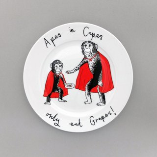 Apes in Capes bone china plate