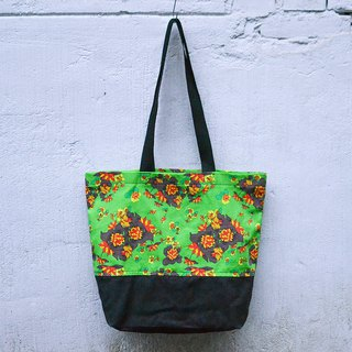 Elegant Tote Bag_Korean Flower Card_Green Chrysanthemum