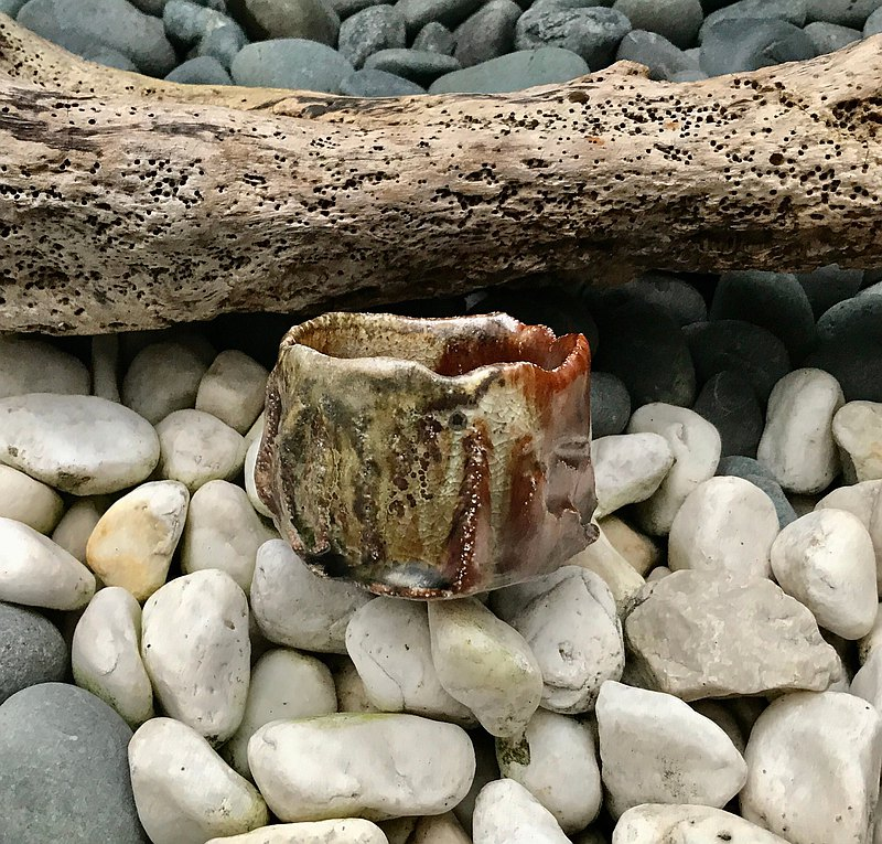 手工柴燒炫彩亮金陶燒杯 陶杯 茶杯 酒杯 餐碗