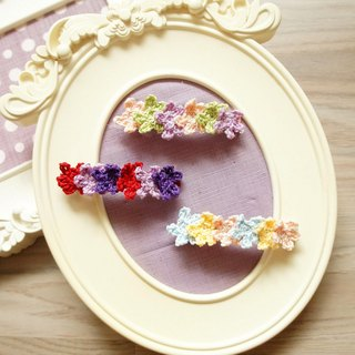 Hand-woven flower series - many small flowers romantic style hair clips / hair accessories (multi-color optional) ~