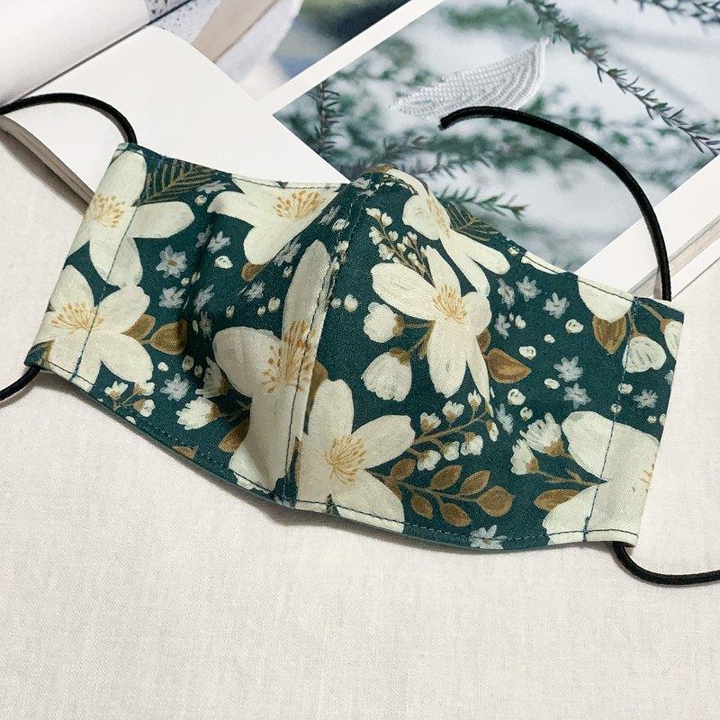 茉莉花 兩用布口罩 口罩套 夾層設計可放濾材