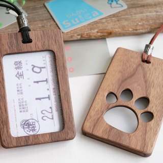 Wooden card case Cute dog meat ball large size