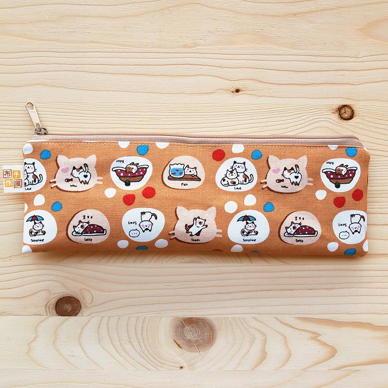 Leisure cat zipper wide version chopsticks bag