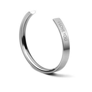 Valentine's day Gift Customised BRACELET NO 1 - STEEL - ENGRAVED