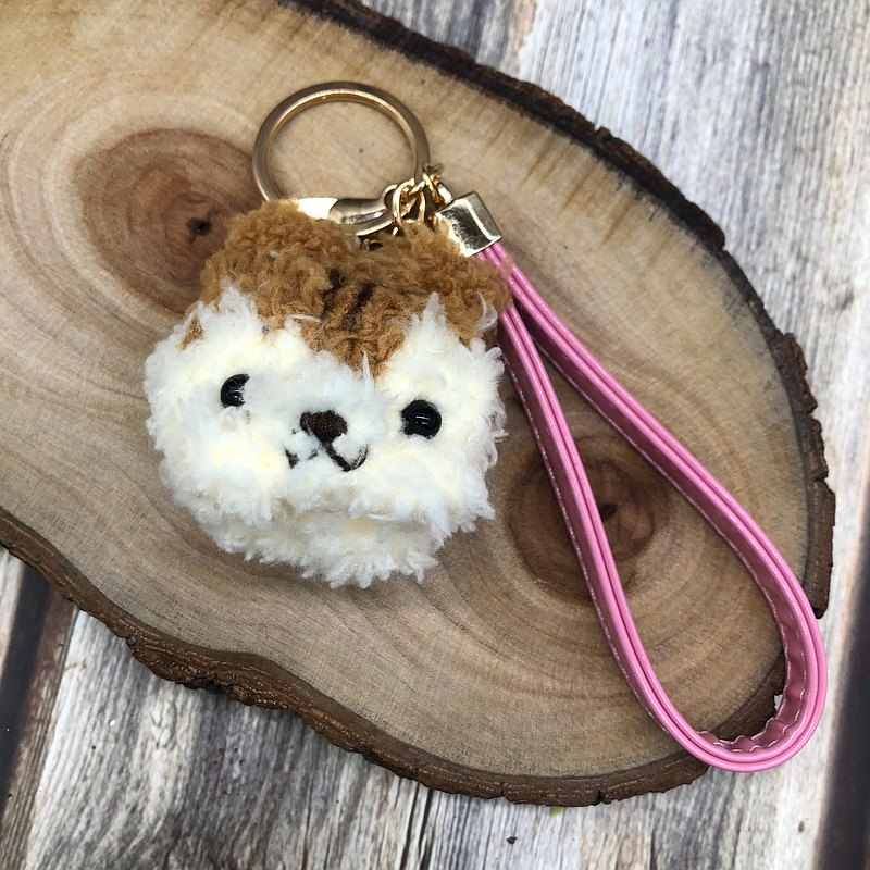 Squirrel-knitted woolen animal key ring charm wrist strap charm
