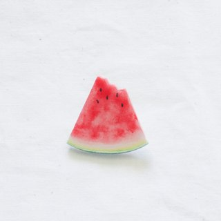 a bite of watermelon brooch accessories