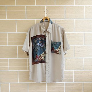 │Slowly │ people like a fish - ancient shirt │ vintage. Retro