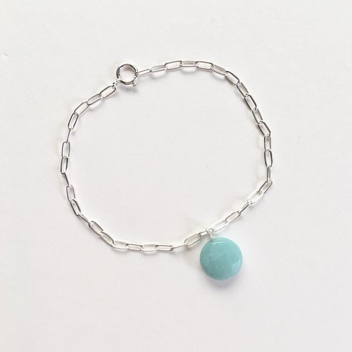 Encounter Tiffany amazon stone sterling silver customized bracelet electroless anti-allergy attached silver polishing cloth