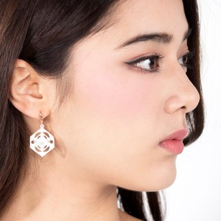 Turner's Cube Earrings (White)  | Scaling Collection