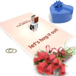 Sorry Hug Card | Sorry Pop Up Card | Romantic Card | Sorry Card
