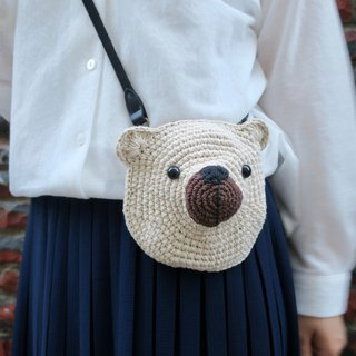 A mother's hand-made bag / bear bag / side backpack / parent-child bag / outing