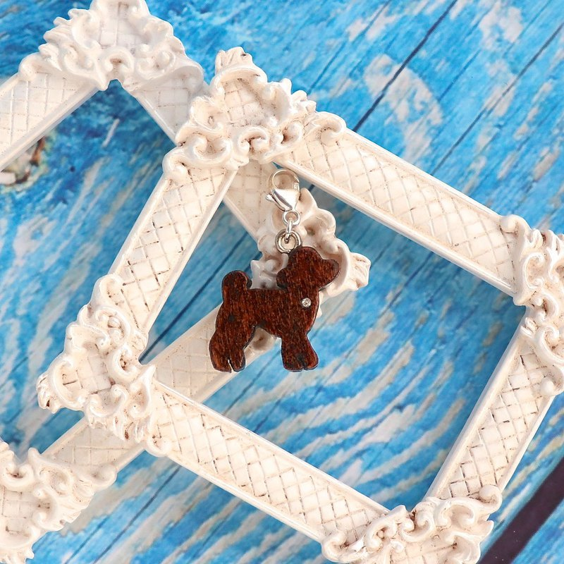 Toy Poodle wooden charm