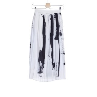 16 autumn and winter sale 16AW pure silk pleated skirt