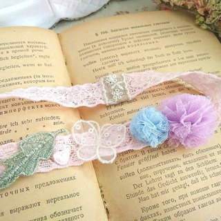 Female baby stretch lace hair rope * sweet two-color yarn ball-b O003 cute sweet little girl girl
