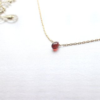 Secret red- Garnet brass necklace