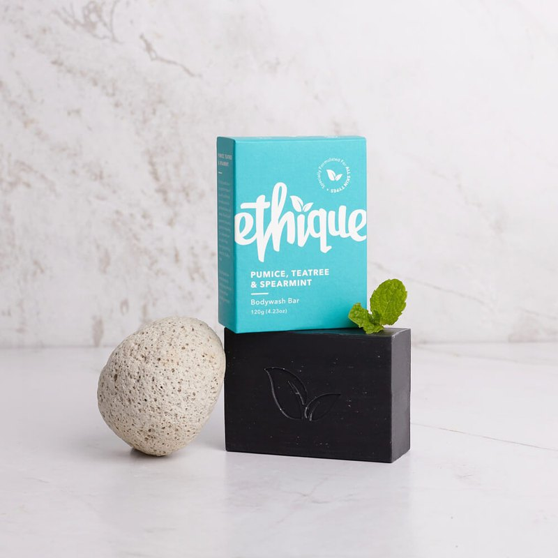 New Zealand Ethique smooth slick - pumice, tea tree bath soap