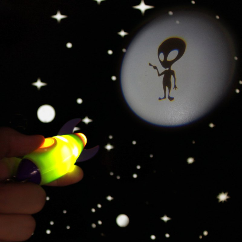 Dreams│Projector Rocket Rocket Monster Projection Light Key Ring