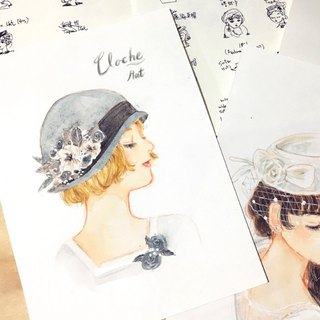 Cloche Hat / Original Art-piece