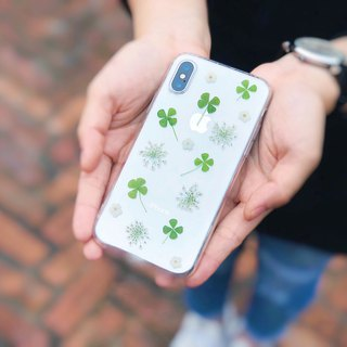 Four-leaf clover Pressed Flower Phone Case /  iPhone6/6s/6/6splus,7/7/8plus/X