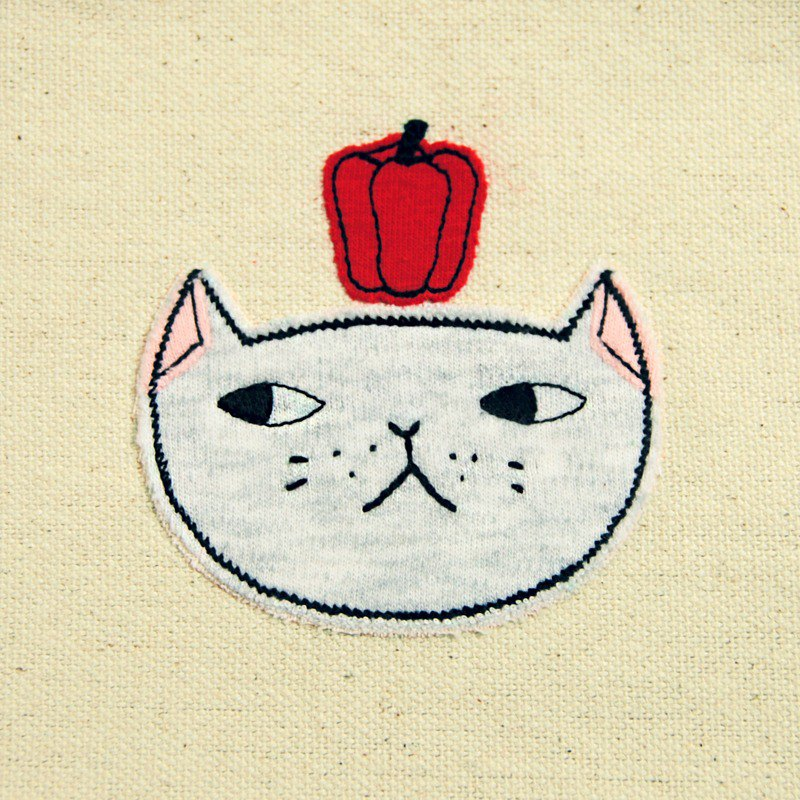 Cats and dogs had Christmas bag - sweet pepper cat