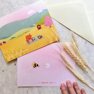 Golden Field Picnic - Squeaky Greeting Card