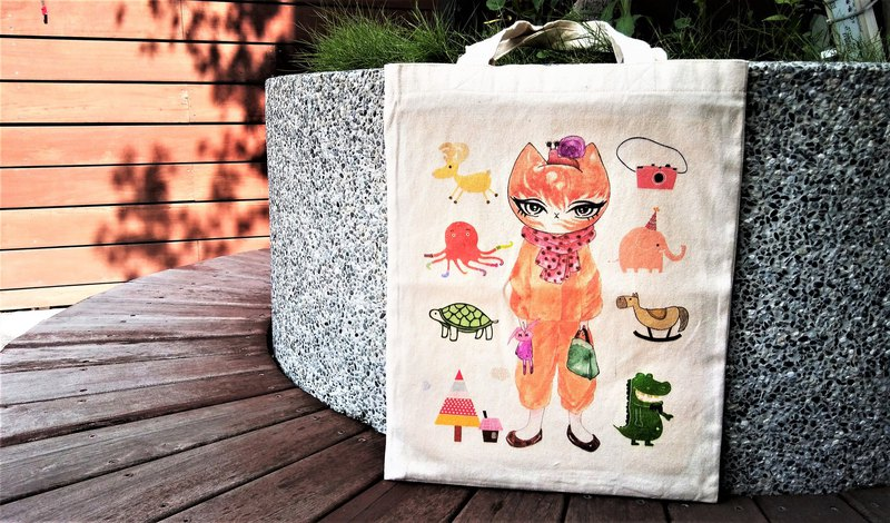 [Midi Cat] Mitty Cat Canvas Bag / Canvas Bag / Cloth Bag