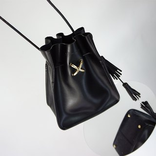 MBS Sugino production RebelHeart series tassel bucket bag ladies leather diagonal package