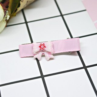 Girl hair accessories => small red flower bow - hair clip series - (mail free shipping) #女孩儿头饰