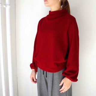 [Made in Japan] Mini Boulevard Build Neck Puff Sleeve Pullover - red