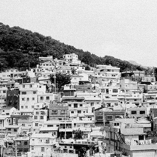 Film Photography Postcard - Korea Series - Gamcheon Culture Village in Black and White