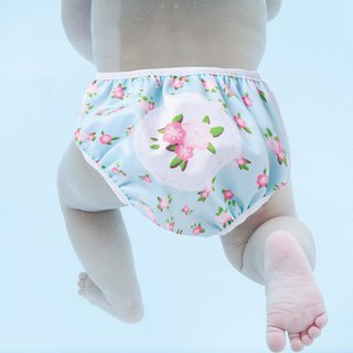 S1 Swimava flowers blossoming baby swim diapers -L