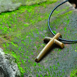 Carved Life / Cross crashed ornaments - green sandalwood