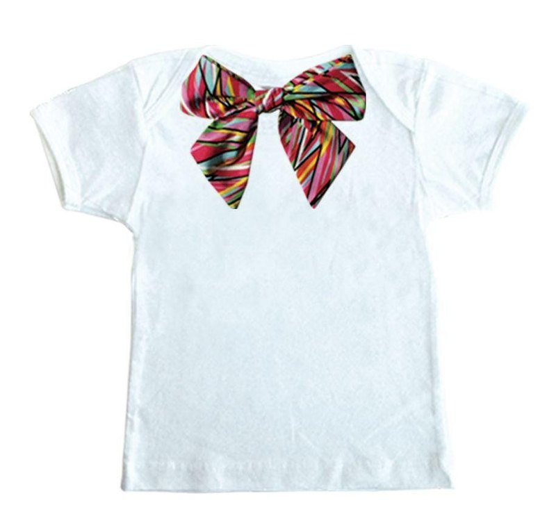 Miss Bow White T-shirt Set (Rock Bow)