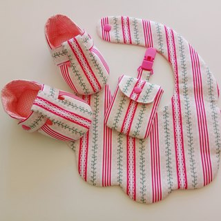 Small leaf beauty gift baby shoes + bib + safe bag