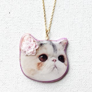 Happy Cat Jojo Stardust 22k gold Handmade Necklace