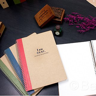 Berger Stationery xIamOkay 【25K loose-leaf notebook】 four colors, two pages