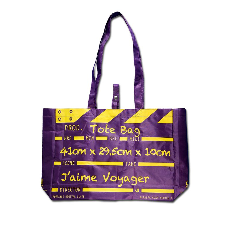 Director Clap Tote Bag - Purple (Polyester)