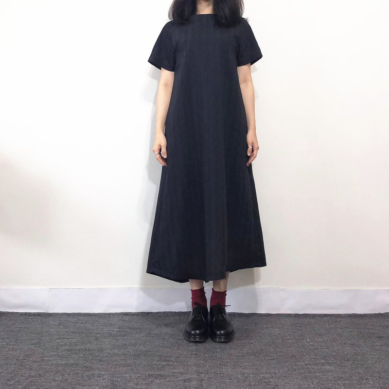 Hand made line black dress